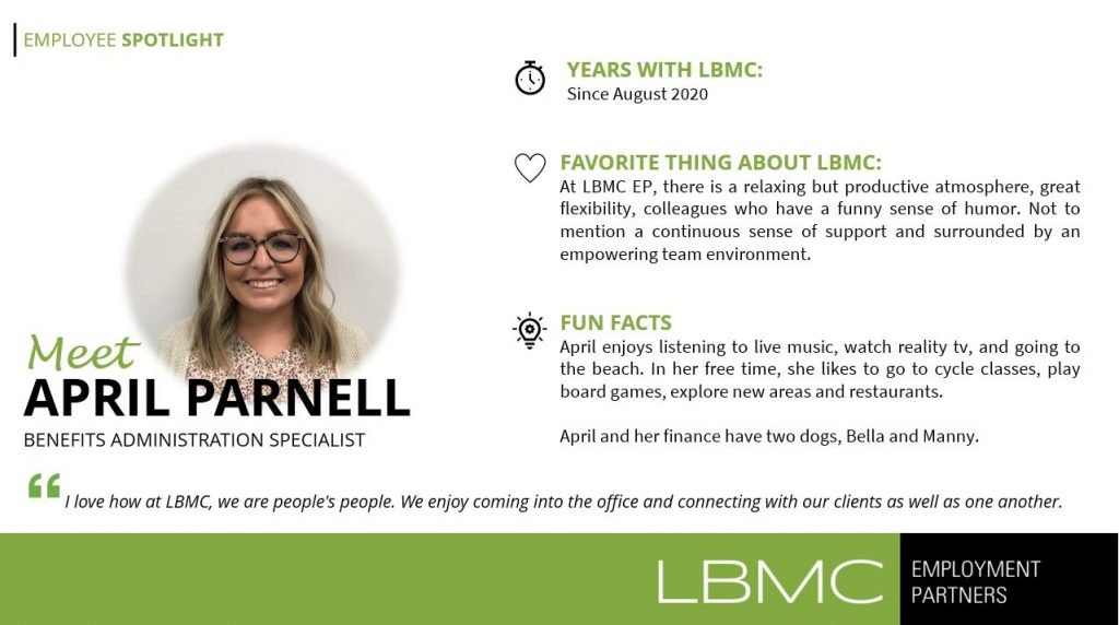 april parnell employee spotlight